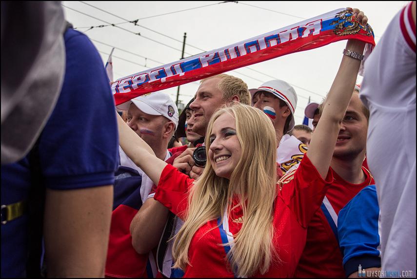 Polska - Rosja , marszkibiców na stadion narodowy, chwilę przed meczem. Euro 2012 (8)