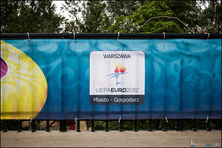 Polska - Rosja , marszkibiców na stadion narodowy, chwilę przed meczem. Euro 2012 (11)