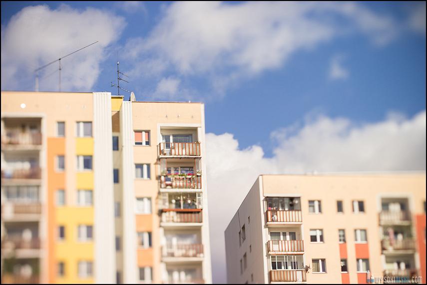 Chomiczówka- blokowe osiedle w Warszawie, zdjęcia test adaptera tilt-shift (36)