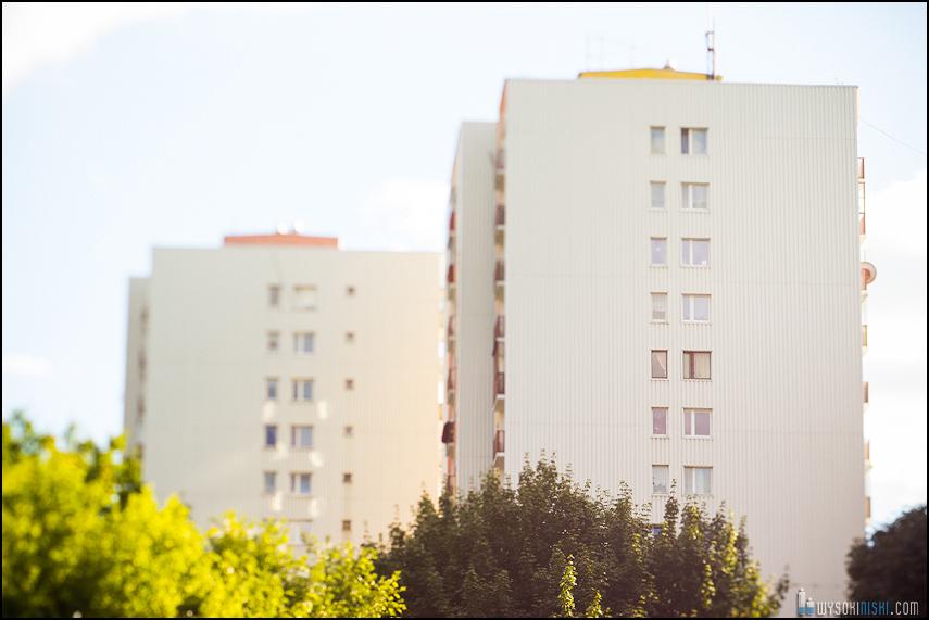 Chomiczówka- blokowe osiedle w Warszawie, zdjęcia test adaptera tilt-shift (25)