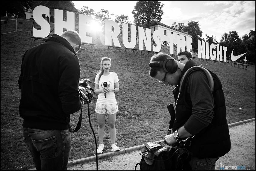 Agnieszka Szczurek opowiada o bieganiu na evencie Nike