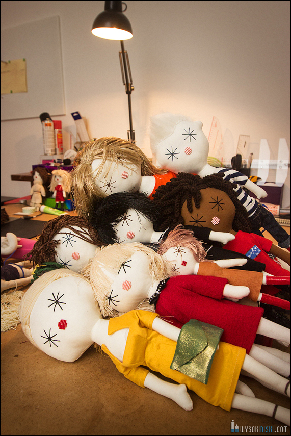 photoshoot in handmade dolls workshop