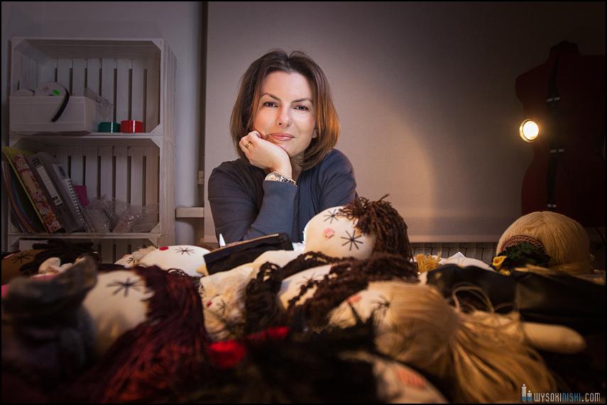 Marta Hryniak w pracowni