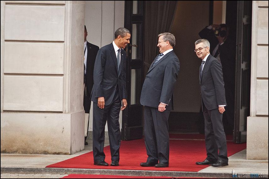 Obama Komorowski śmiech