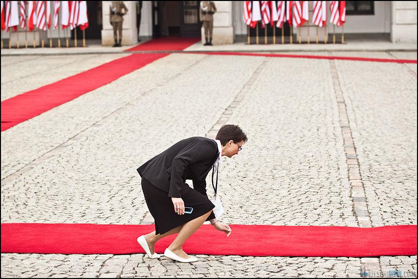 Przygotowania wizyty Baracka Obamy u polskiego prezydenta