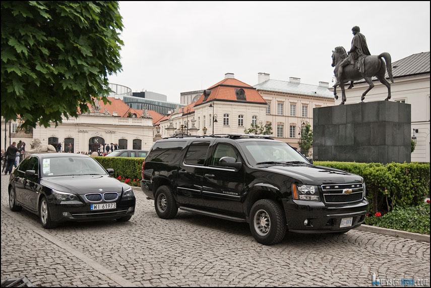 Secret Service Obama w Warszawie Krakowskie Przedmieście