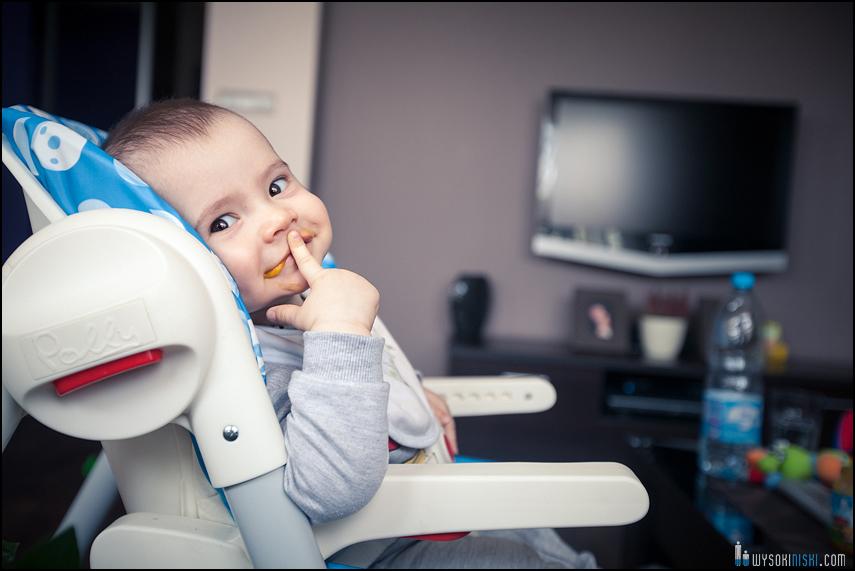 dziecko usmiech jedzenie