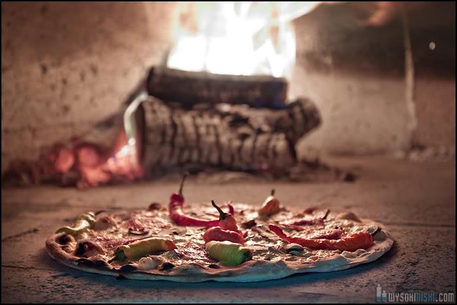 fotografia produktu żywność pizza w piecu