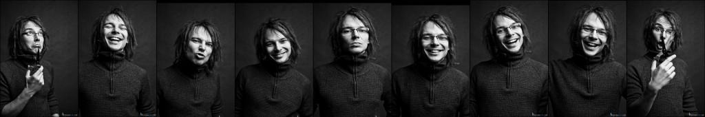 Wysoki Niski- zestaw autoportretów