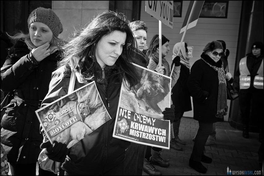 pikieta protest- przeciw zabijaniu psów na Ukrainie w ramach przygotowań do Euro 2012 (78)