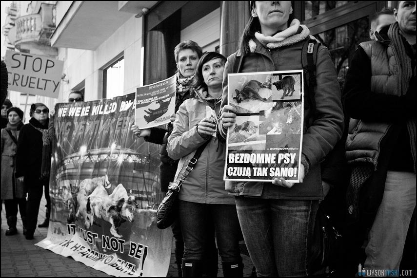pikieta protest- przeciw zabijaniu psów na Ukrainie w ramach przygotowań do Euro 2012 (62)