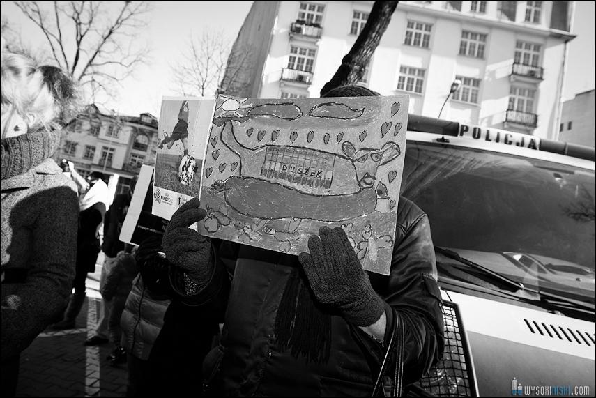 pikieta protest- przeciw zabijaniu psów na Ukrainie w ramach przygotowań do Euro 2012 (60)