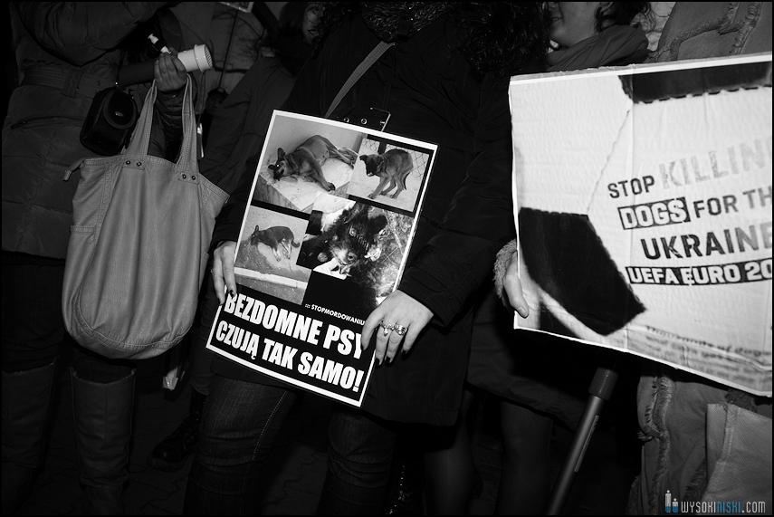 pikieta protest- przeciw zabijaniu psów na Ukrainie w ramach przygotowań do Euro 2012 (26)