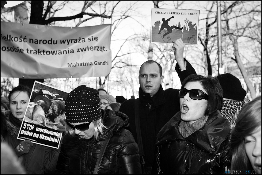 pikieta protest- przeciw zabijaniu psów na Ukrainie w ramach przygotowań do Euro 2012 (22)