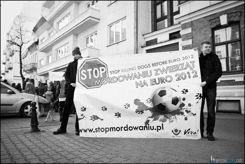 pikieta protest- przeciw zabijaniu psów na Ukrainie w ramach przygotowań do Euro 2012 (19)
