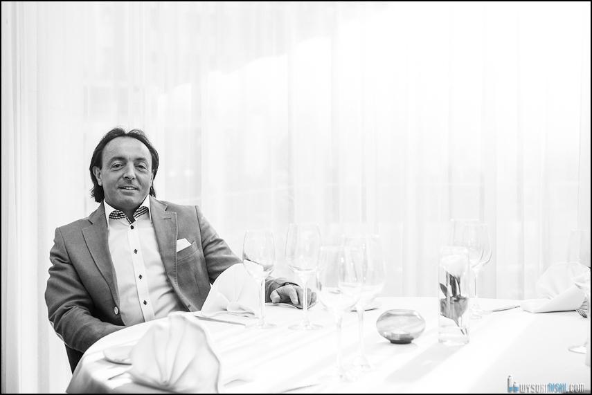 Kucharz, restaurator i juror Master Chef- portret foto