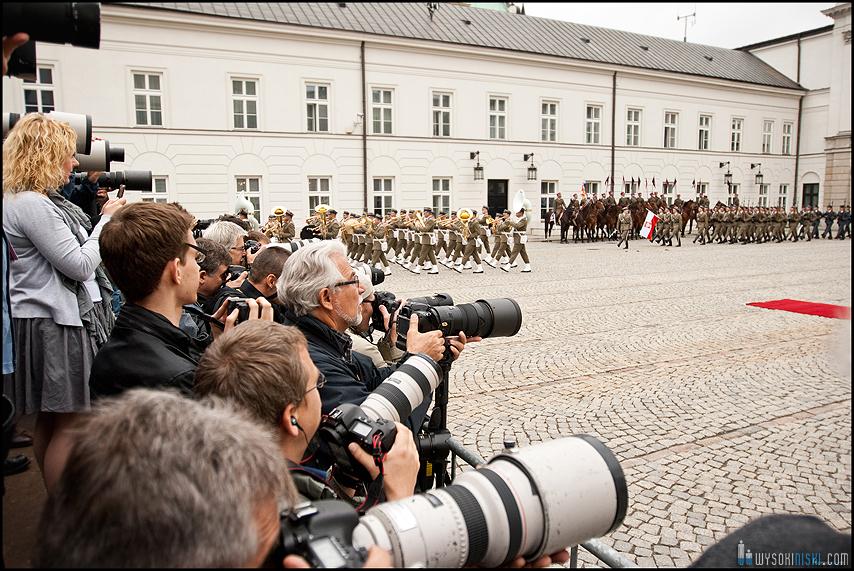 Reporterzy czekają na Obamę