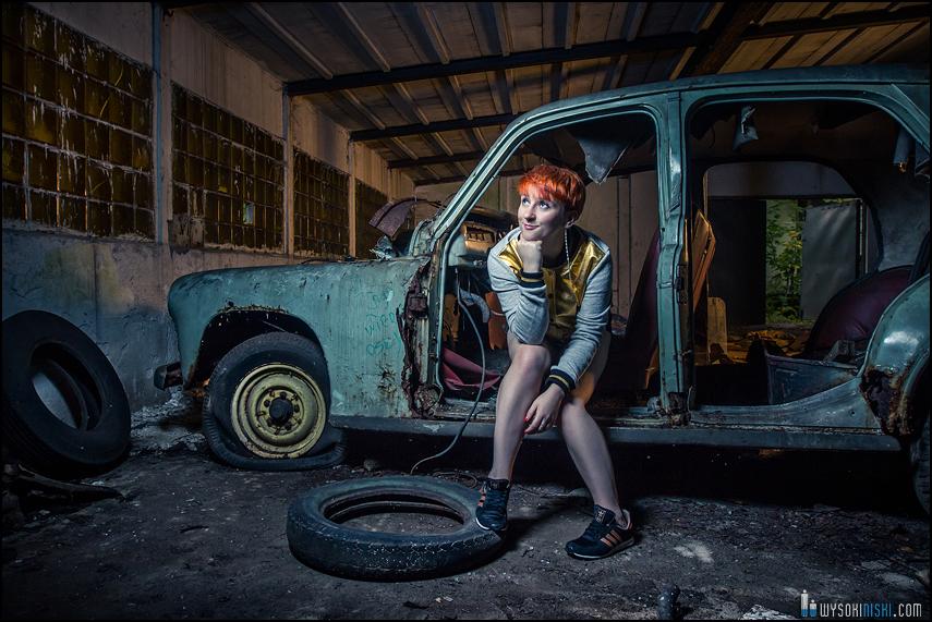 kolorowe zdjęcia Moniki cmentarzysko samochodów