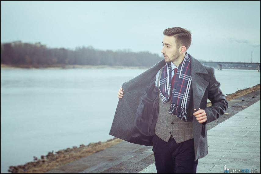 moda męska płaszcz