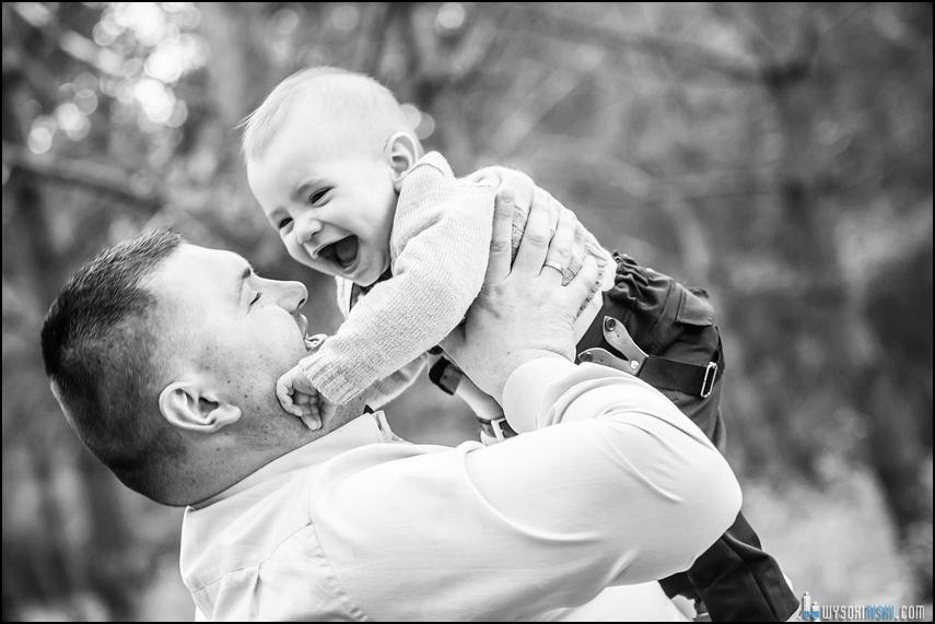 fotograf rawa mazowiecka ojciec syn zabawa uśmiech